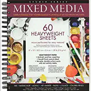 Mixed Media Pad (Heavy sheets for watercolors and acryllic paints)