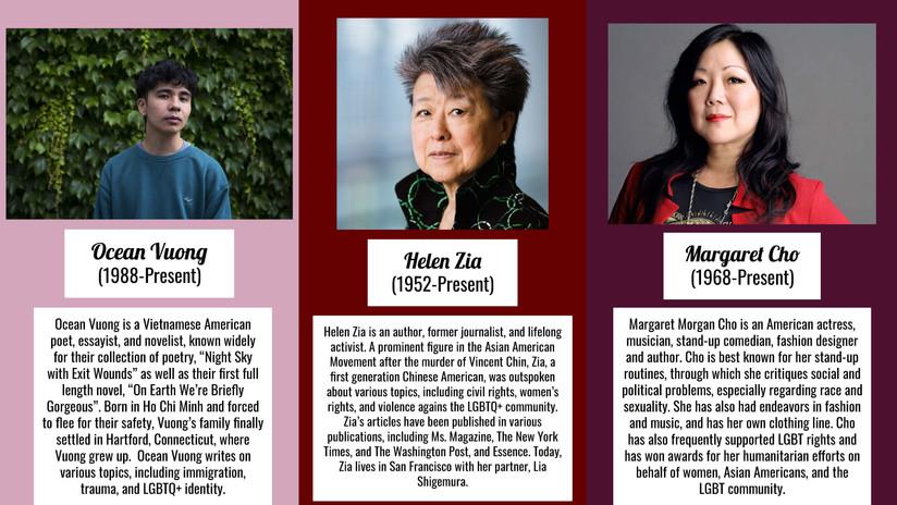 Ocean Vuong, Helen Zia, Margaret Cho