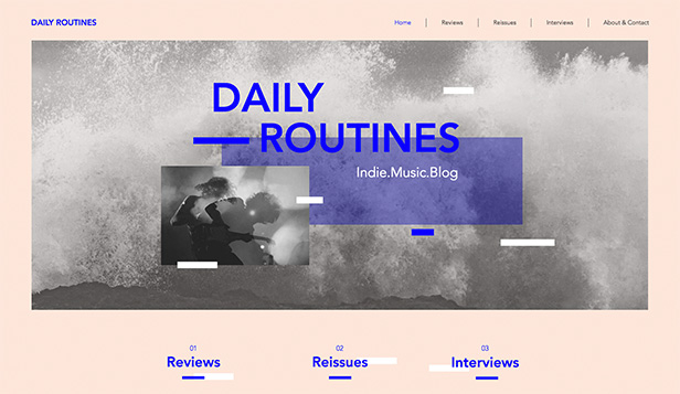 Konst & kultur website templates – Indie Music Blog