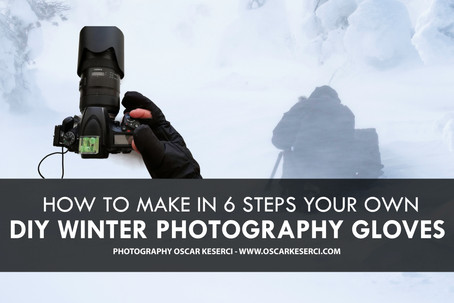 DIY Landscape photography gloves for extreme cold weather