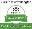 Certificate of excellence Mamma Mia Bangtao