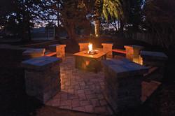 Firepit & Garden at Night
