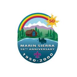 Marin Sierra 50th Logo DeNador