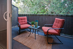 Deck with Red Chairs