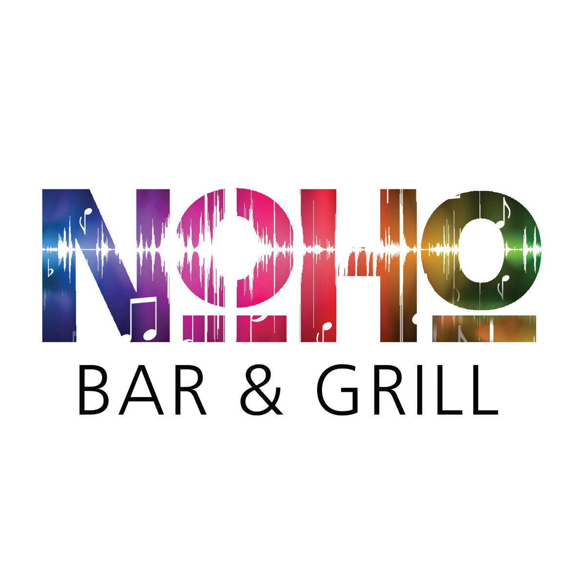 NoHo Bar & Grill Logo White
