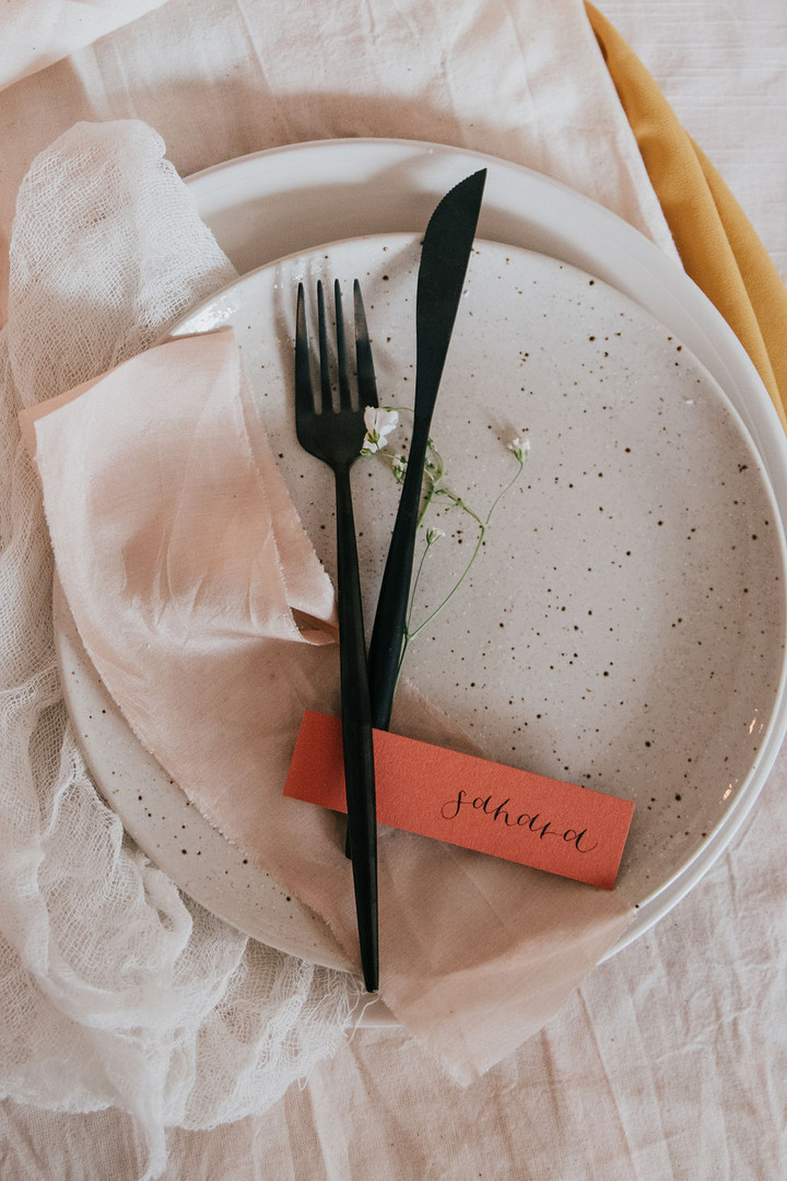 Matte terracotta place cards