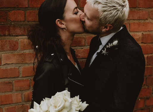 Minimalist Monochrome. An intimate elopement shoot as featured on Festival Brides