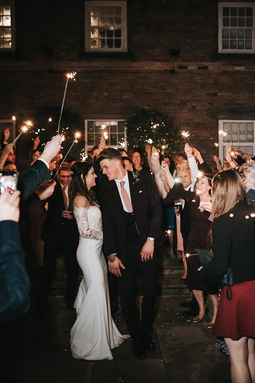 Sparkler Send Off - wedding photography