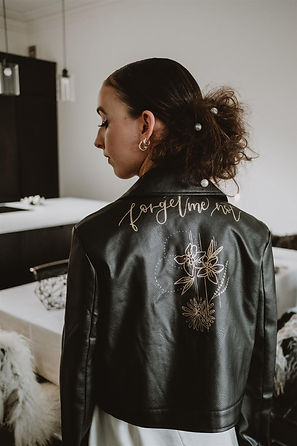 hand painted wedding jacket, personalise