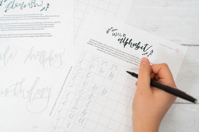 Home Calligraphy Club Kits: Beginners Hand Lettering (Pen Calligraphy)