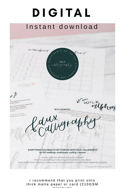 Digital download - Faux calligraphy kit - From Beginner to Intermediate