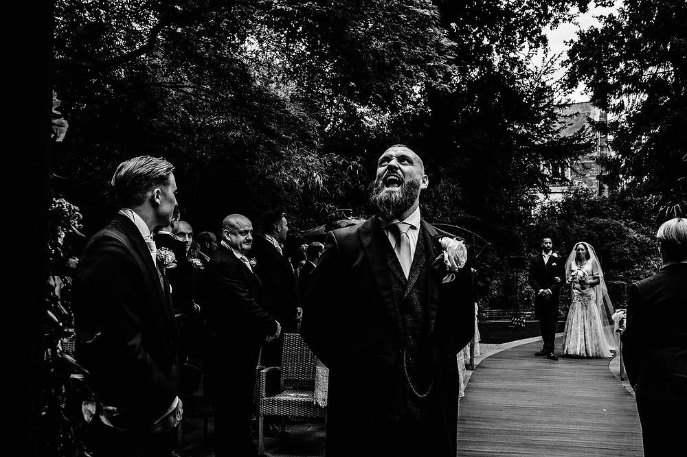wedding - first luck - walking down the aisle - wedding photo