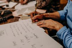 Beginners calligraphy nib + ink workshop