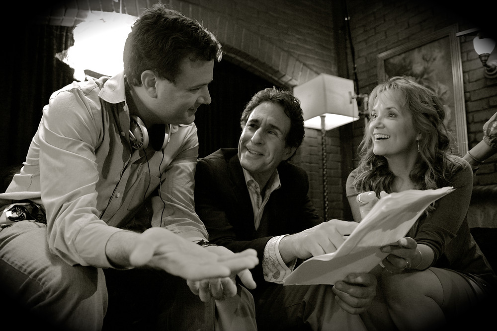 Director Jim Hemphill, John Shea (Robert), and Lea Thompson (Emily) (photo by Ev