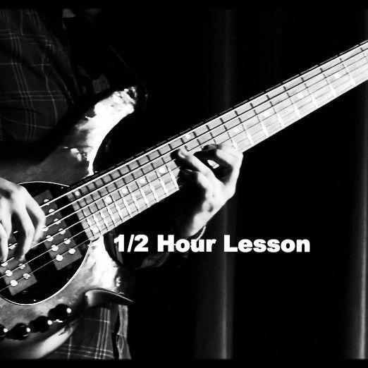 Elec. Bass Lesson 1/2 Hour