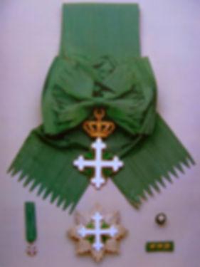 Insígnias da Ordem de S. Mauricio e de S. Lázaro