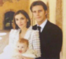 Principe Emanuel Filiberto e a Princesa Clotilde de Saboia com a Princesa Vitória