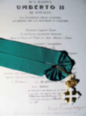 Diploma da Ordem de S. Mauricio e de S. Lázaro