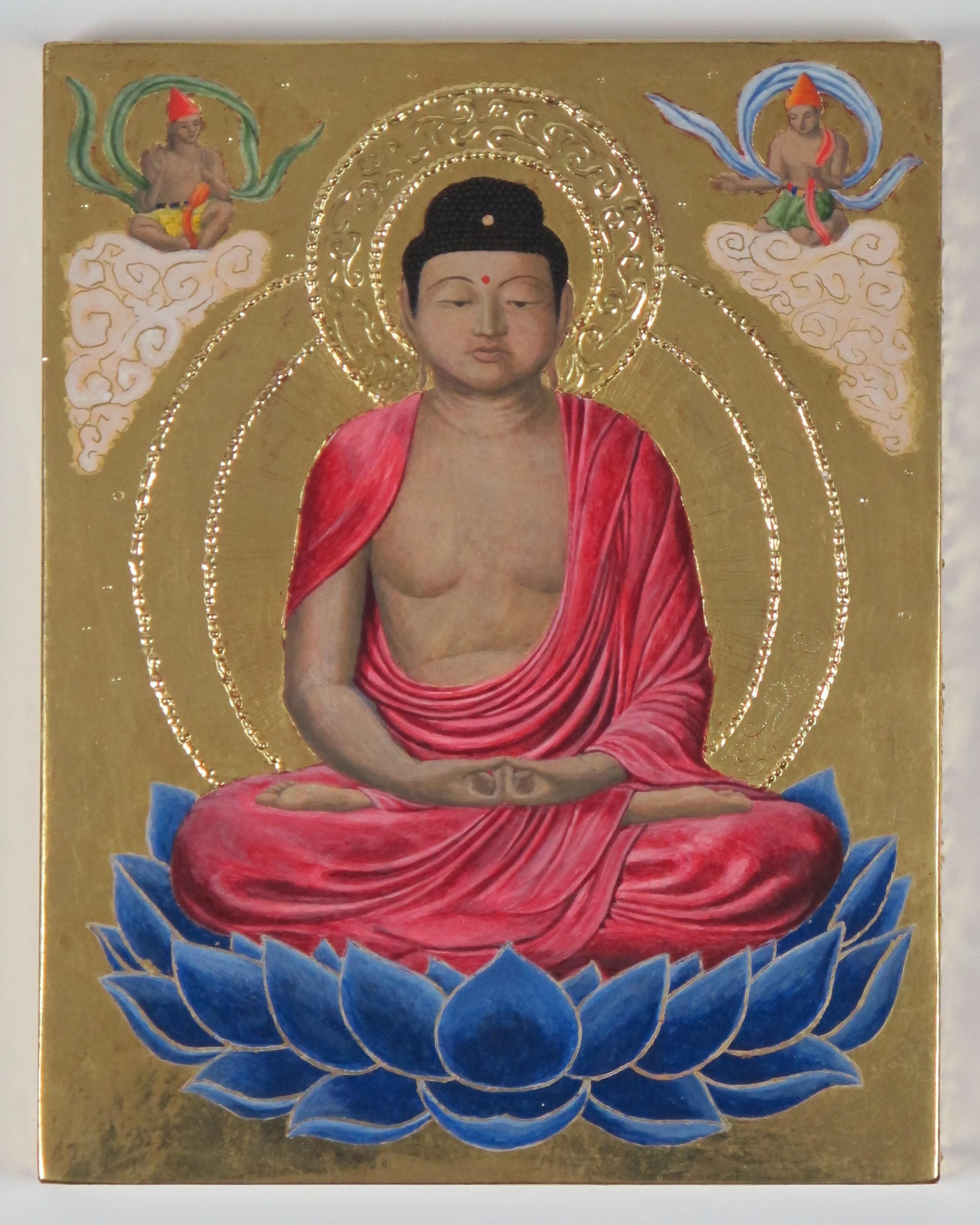 Medieval icon/Buddha mashup