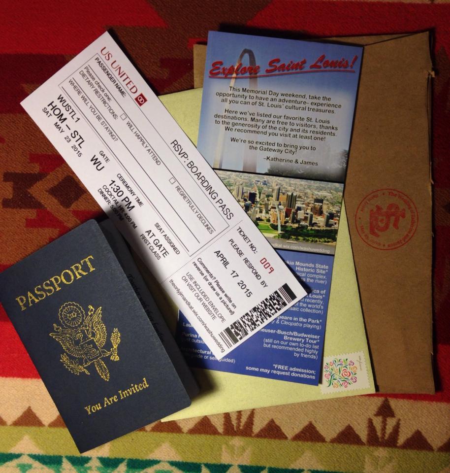 Travel wedding invitation