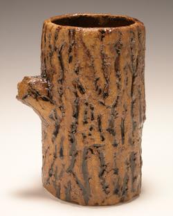 Ceramic vase with tree texture