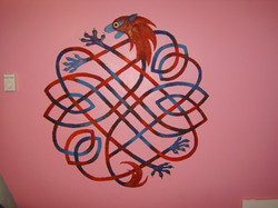 Celtic knot bedroom mural