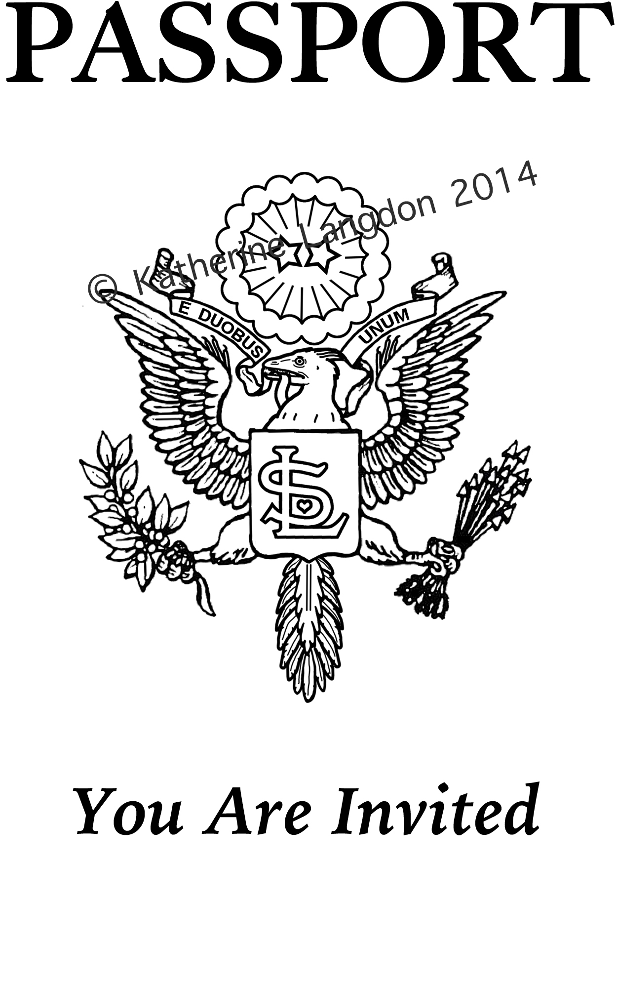 Wedding invitation stamp artwork