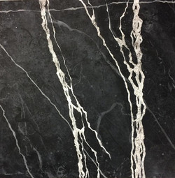 PAINTED FAUX MARBLE FLOOR CLOSE UP