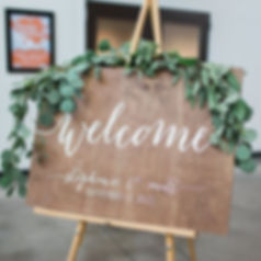 personalised custom hand painted wooden sign | Big Day Decoration