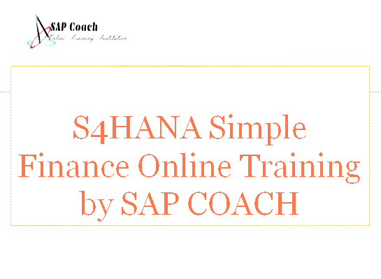 HANA Simple Finance Online Training