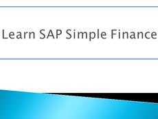 S4HANA Simple Finance