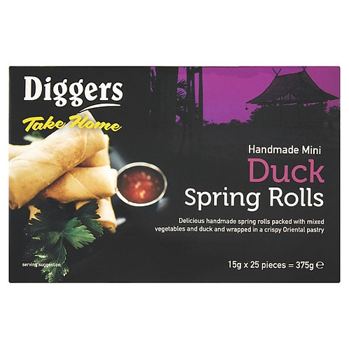 Diggers Mini Duck Spring Rolls 15gx25 FPAN4703