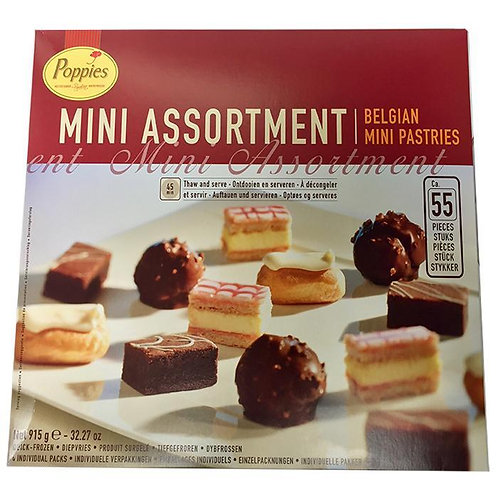 Poppies Mini Assortment Petit Fours x 55 FCAP47060