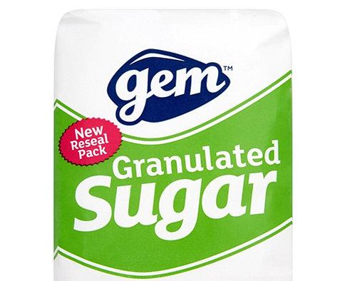 Gem Granulated Sugar 25kg AGEM5408