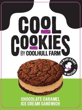 Coolhull Farm Chocolate Cookie & Salted Caramel Ice-Cream X 24 FPAG48045