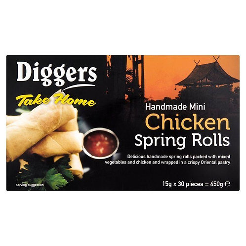 Diggers Mini Chicken Spring Rolls 15gx30 FPAN4773