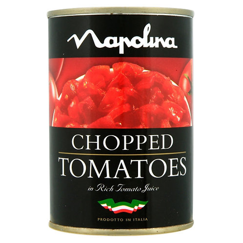 Napolina Chopped Tomatoes 12x400g AEXE4922