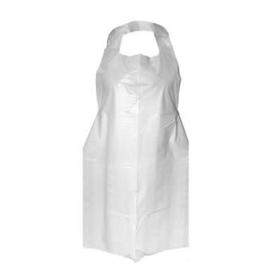 White Plastic Aprons x 200 ACAT5226