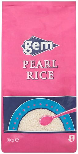 Gem Pearl Rice 3kg AGEM5609