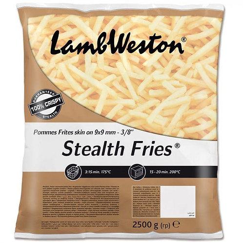 Lamb Weston 9x9 Skin On Stealth Fries  4 x 2.5kg FMEI43132