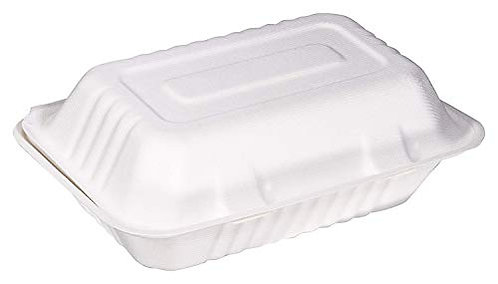 "Bagasse Meal Box  9x9"" Compostable x 200 ACAT5240"