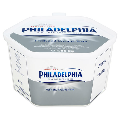 Philadelphia Regular Cream Cheese 1.65kg Tub CEXE5065