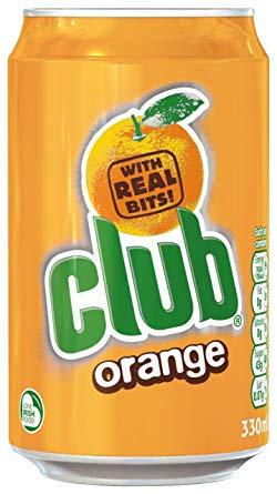 Club Orange Cans 330ml x 24 ALYN5281