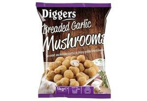Diggers Garlic Mushrooms 5x1kg FPAN44019
