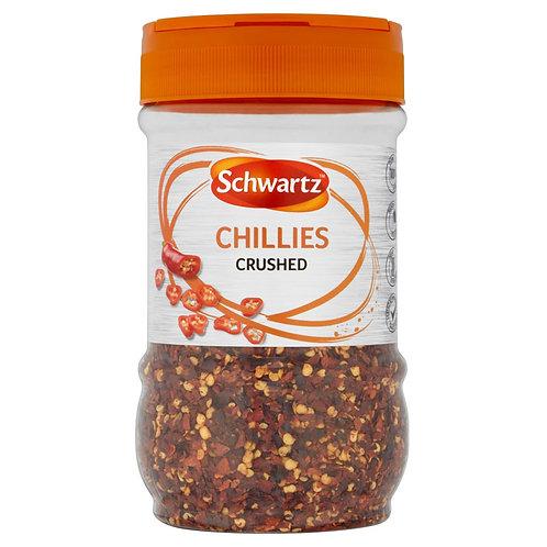 Schwartz Crushed Chillies 260g AEXE5672