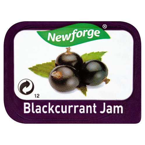Newforge Blackcurrent Jam Portions 96x20g AEXE49168