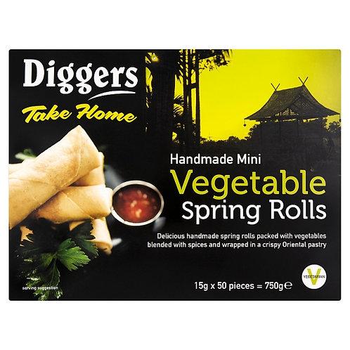 Diggers Mini Veg Spring Rolls 15g x 50 FPAN47016