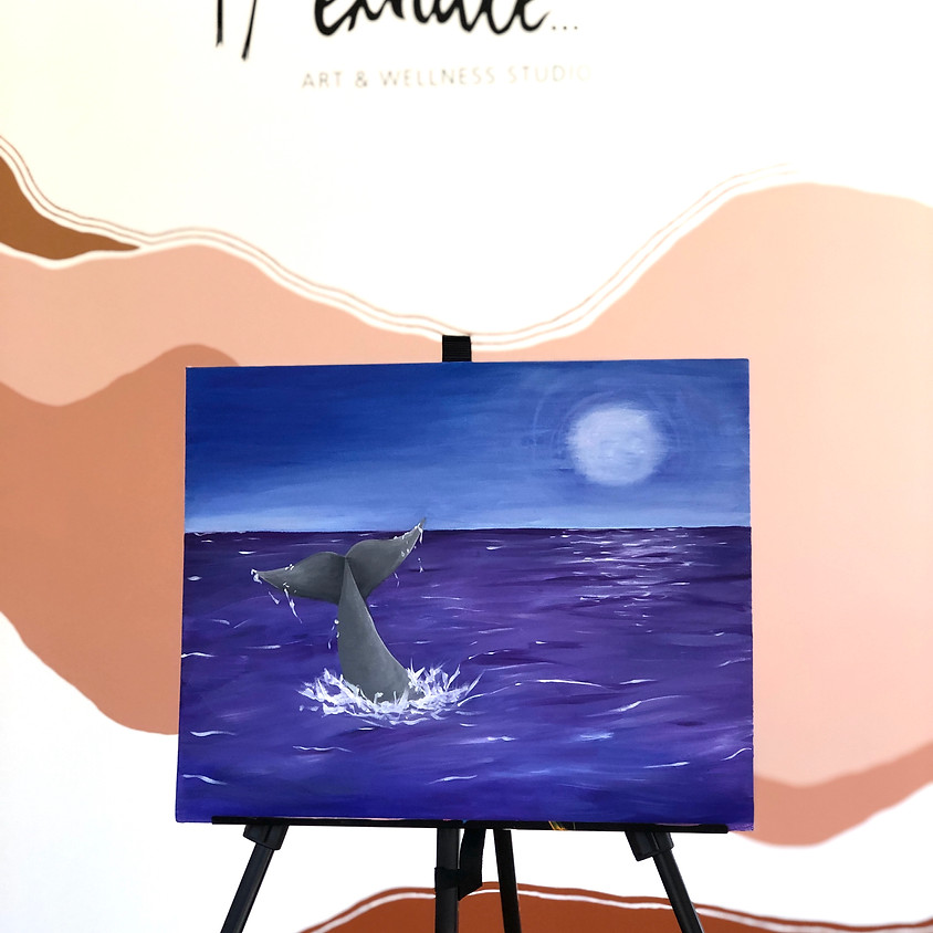 PAINT AND SIP - Whale