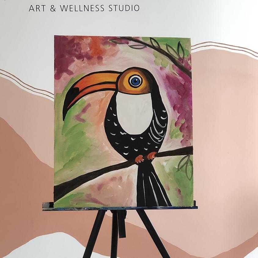 Kids Paint a Canvas - Toucan