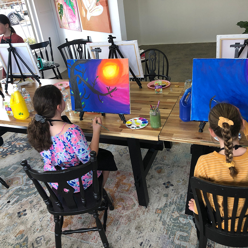 Kids Paint a Canvas (9years+)